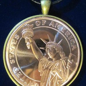 Jewelry - Statue of Liberty Leather Chord Necklace